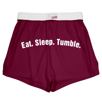 Eat Sleep Tumble Shorts Junior Fit Soffe Cheer Shorts
