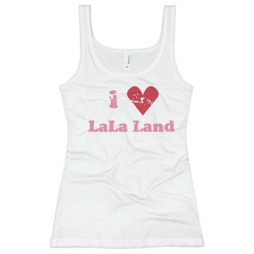 I Heart La La Land Junior Fit Basic Bella 2x1 Rib Tank Top