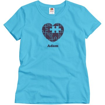 Custom Name Puzzle Misses Misses Relaxed Fit Basic Gildan Ultra Cotton Tee