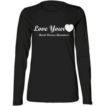 Love Your Heart Misses Relaxed Fit Bella Missy Long Sleeve Tee