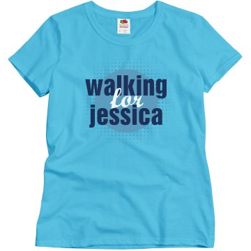 Walking For [Insert Name] Misses Relaxed Fit Gildan Ultra Cotton Tee