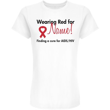Walk for a Cure for AIDS Junior Fit American Apparel Fine Jersey Tee