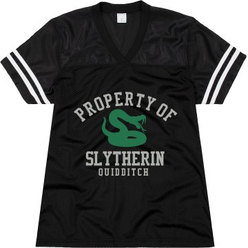 Property of Slytherin Junior Fit Augusta Replica Football Jersey