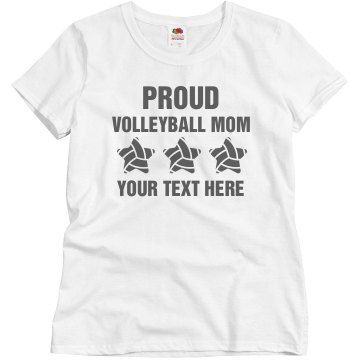 Volleyball mom tee Misses Relaxed Fit Basic Gildan Ultra Cotton Tee