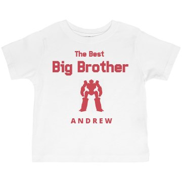 Best Big Brother Toddler American Apparel 3/4 Sleeve Baseball Tee