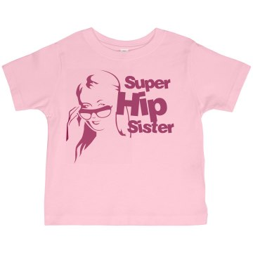 Super Hip Sister Toddler American Apparel 3/4 Sleeve Baseball Tee