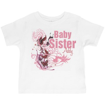 Baby Sister Butterflies Toddler American Apparel 3/4 Sleeve Baseball Tee