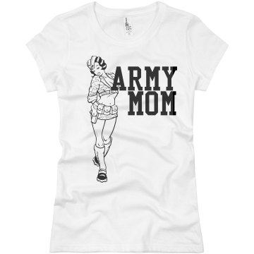 Sexy Army Mom Junior Fit Basic Bella Favorite Tee
