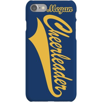 Cheer School Colors Phone Plastic iPhone 5 Case White 