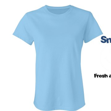 Smile For Fresh Air! Junior Fit Bella Crewneck Jersey Tee