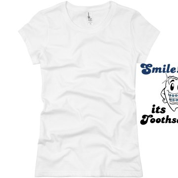 Toothsday at the Dentist Junior Fit Basic Bella Favorite Tee