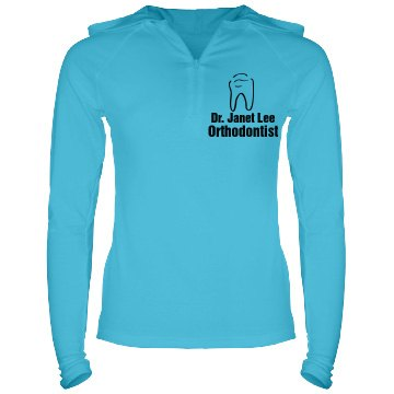 Orthodontist Hoodie Junior Fit Bella Long Sleeve 1/2 Zip Hooded Pullover Tee
