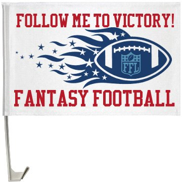 Fantasy Football Banner One-Sided Driver Side Car Flag