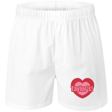 Taylor&#x27;s Love Womens Unisex Robinson Boxer Shorts
