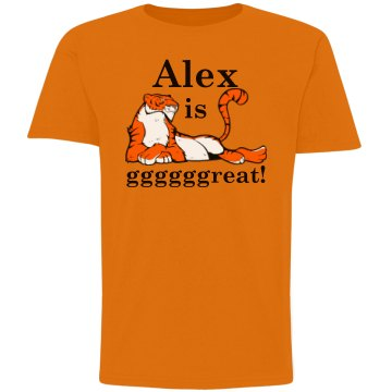 Alex Is Gggggreat! Youth Gildan Ultra Cotton Crew Neck Tee