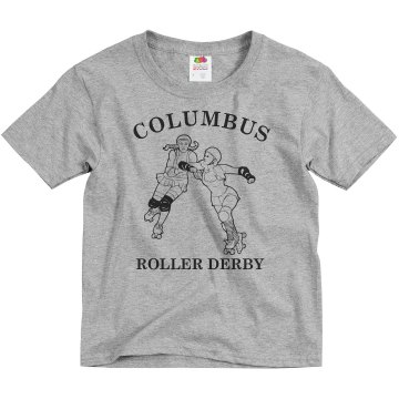 Columbus Roller Derby Youth Basic Gildan Ultra Cotton Crew Neck Tee