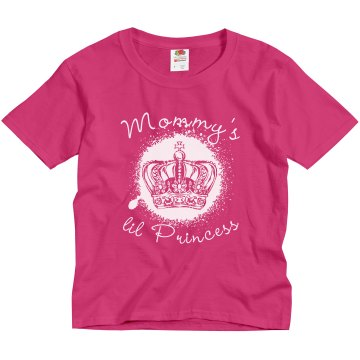 Mommy&#x27;s Princess Crown Youth Gildan Ultra Cotton Crew Neck Tee
