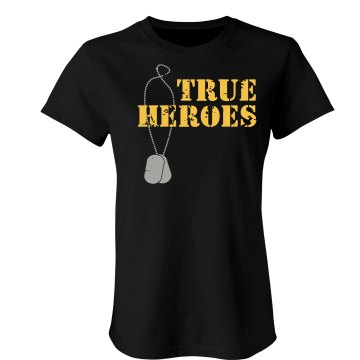 True Heroes Distress T Junior Fit Bella Sheer Longer Length Rib Tee