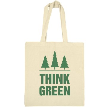 Think Green Earth Day Liberty Bags Canvas Bargain Tote Bag