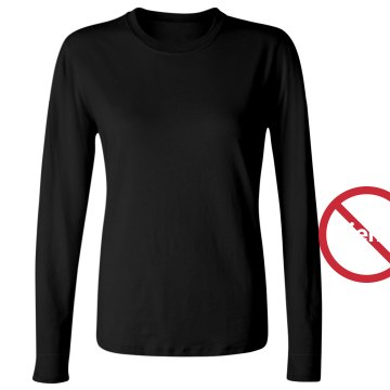 No Wiener Tee Gay Rights Junior Fit Bella Long Sleeve Crewneck Jersey Tee
