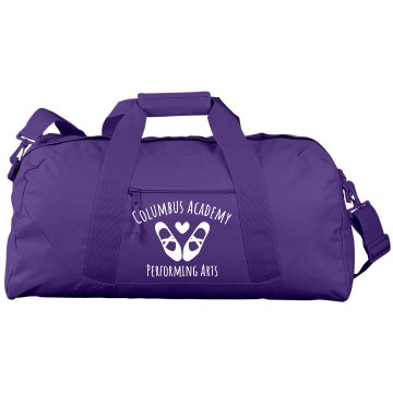 Performing Arts Dance Port & Company Large Square Duffel Bag