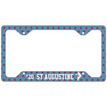 St Augustine Baseball License Plate Cover