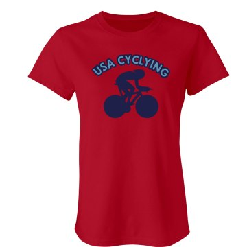 USA Cycling  Junior Fit American Apparel Fine Jersey Tee