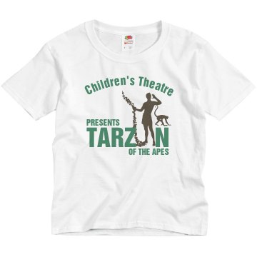 Childrens Theater Tarzan Youth Basic Gildan Ultra Cotton Crew Neck Tee