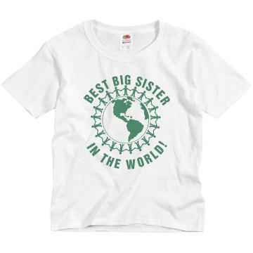 World&#x27;s Best Big Sister Youth Basic Gildan Ultra Cotton Crew Neck Tee