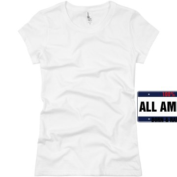 100% American Born Junior Fit Basic Bella Favorite Tee