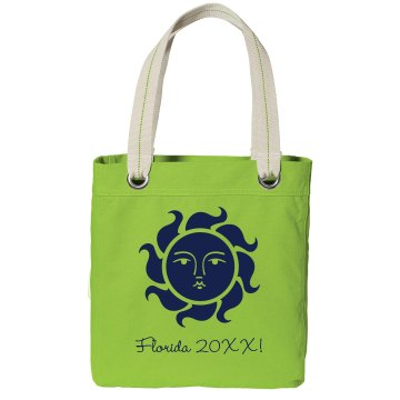 Girl Trip to Florida Port Authority Color Canvas Tote