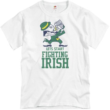 Lets Fight Irish Unisex Basic Gildan Heavy Cotton Crew Neck Tee
