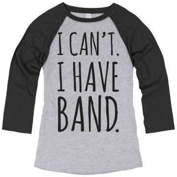 Senior Band Camp Tee Junior Fit Bella 1x1 Rib Cap Sleeve Raglan Tee
