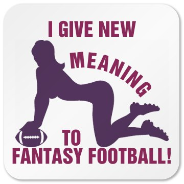 Fantasy Football Coaster Square Plastic Coaster with Cork Back