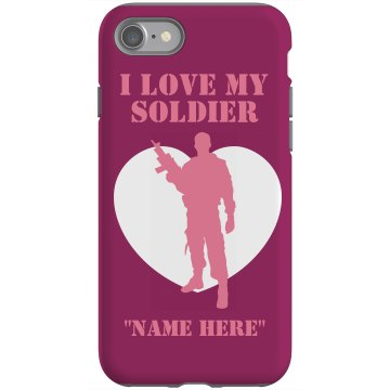I Love My Marine Case Rubber iPhone 4 & 4S Case Black