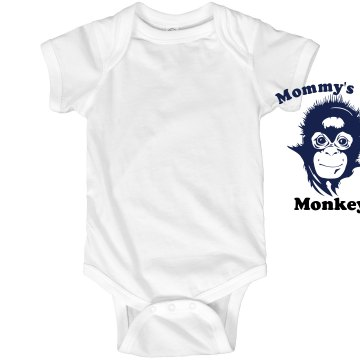 Mommy's Lil' Monkey Infant Rabbit Skins Lap Shoulder Creeper
