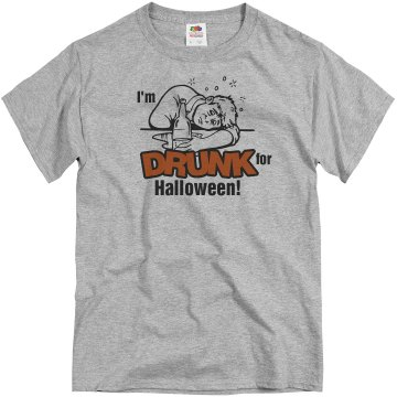Drunk for Halloween Unisex Basic Gildan Heavy Cotton Crew Neck Tee