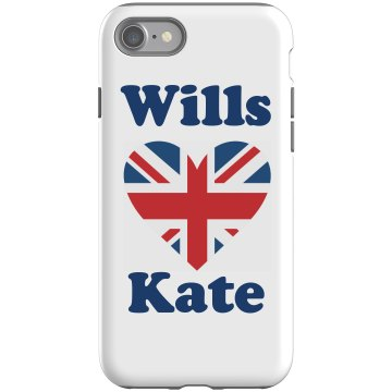 Wills and Kate iPhone Rubber iPhone 4 & 4S Case Black