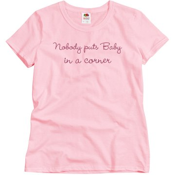 Baby in a Corner Junior Fit Bella Sheer Longer Length Rib Tee