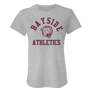 Bayside Athletics Junior Fit Bella Crewneck Jersey Tee