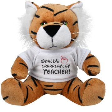 World's Greatest Teacher Plush Tiger
