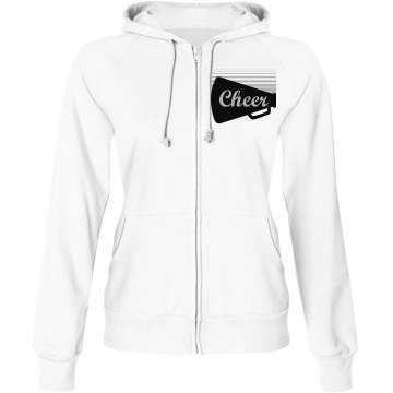 Cheer Mic Hoodie Junior Fit Bella Fleece Raglan Zip Hoodie