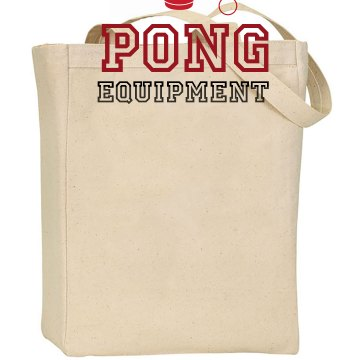 Pong Equipment Liberty Bags Canvas Tote