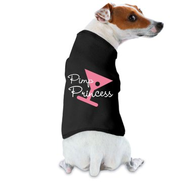 Pimp Princess Puppy Doggie Skins Dog Ringer Tee