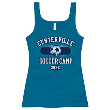 Soccer Camp Tank w/ Back Junior Fit Bella Sheer Longer Length Rib Tank Top