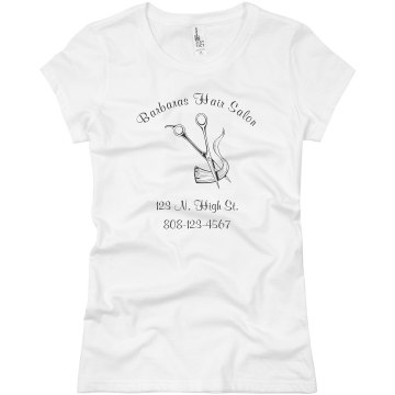 Hair Salon Junior Fit Basic Bella Favorite Tee
