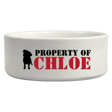 Property Of... Ceramic Pet Bowl