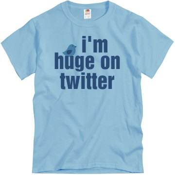 Huge on Twitter Text Tee Unisex Basic Gildan Heavy Cotton Crew Neck Tee