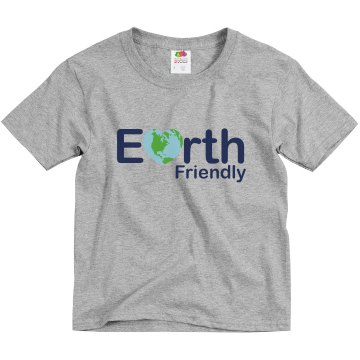 Earth Friendly Youth Gildan Ultra Cotton Crew Neck Tee