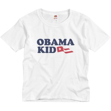 Obama Kid Youth Basic Gildan Heavy Cotton Crew Neck Tee